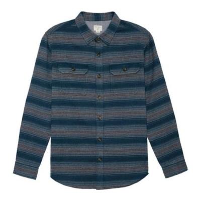 オニール シャツ トップス メンズ Matamoros Long Sleeve Button Down Shirt (Men's) Navy