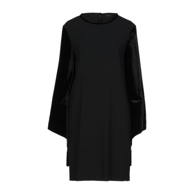 ANTONELLI ミニワンピース&ドレス ブラック 40 レーヨン 70% / アセテート 26% / ポリウレタン 4% / シルク ミニワンピ