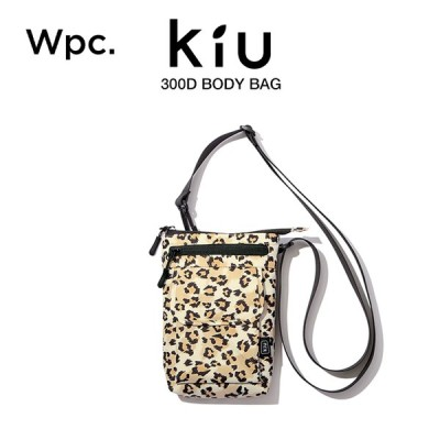 KiU トラベルポーチ 撥水防水 300D レオパードパターン Wpc. ワールドパーティー K184-210