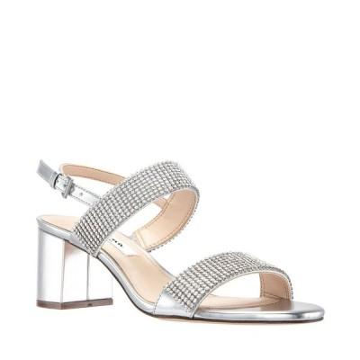 ニナ Nina レディース サンダル・ミュール シューズ・靴 Naomi Block Heel Sandals Silver