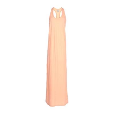 DOUUOD ロングワンピース&ドレス あんず色 44 コットン 100% ロングワンピース&ドレス