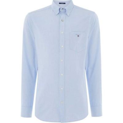 ガント Gant メンズ シャツ ワイシャツ トップス Long Sleeve Oxford Shirt Pale Blue