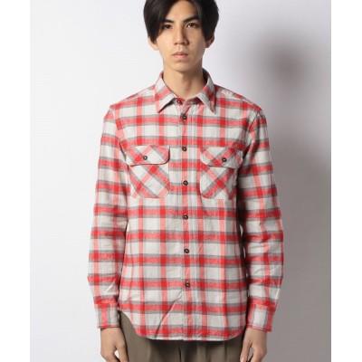 (BENETTON (mens)/ベネトン メンズ)ヘビーネルチェックシャツ/メンズ レッド