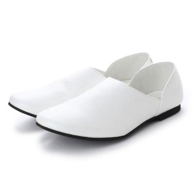 デデス Dedes シンプルで合わせやすい!踵が踏めるスリッポンバブーシュ/ 5228 (ホワイト)