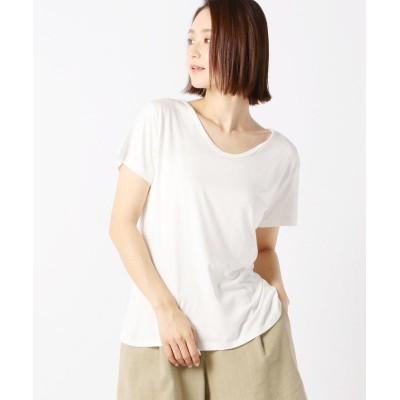 (UNRELISH/アンレリッシュ)UネックTシャツ/レディース シロ