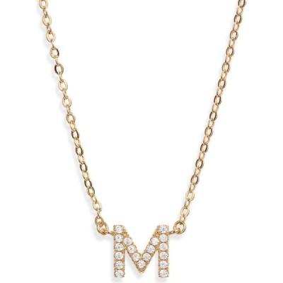 ノードストローム NORDSTROM レディース ネックレス ジュエリー・アクセサリー Delicate Cubic Zirconia Initial Pendant Necklace Clear/Gold