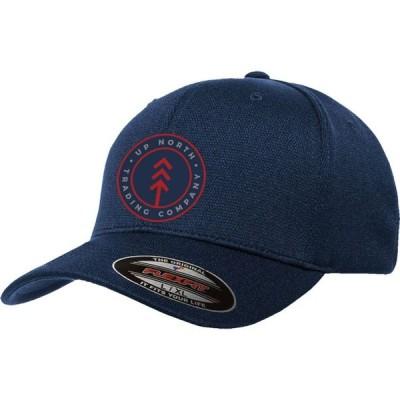 アップノーストレーディングカンパニー Up North Trading Company メンズ 帽子 Round Lake Patch Flexfit Hat Navy/Red