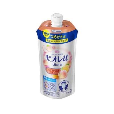 (4個セット)花王 ビオレu スイートピーチの香り つめかえ用 340ml|まとめ買い