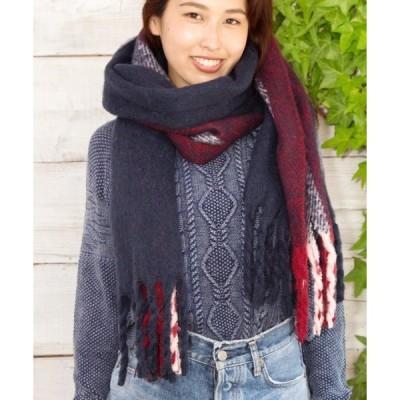 マフラー 【Kahiko】サイドラインショール