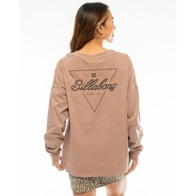 tシャツ Tシャツ BILLABONG レディース L/S TEE ルーズロンT【2020年秋冬モデル】/ビラボン 長袖 ロンT バックプリント