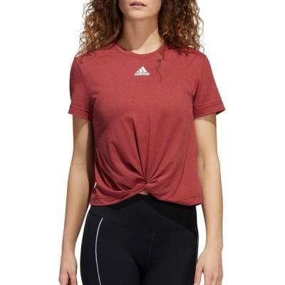 アディダス adidas レディース Tシャツ トップス Knotted T-Shirt Power Pink/Legacy Red