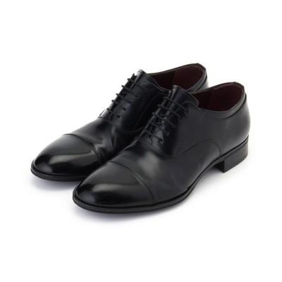 【タケオキクチ】  ストレートチップシューズ [ メンズ シューズ ドレスシューズ 革靴 ビジネス 結婚式 セレモニー ] メンズ ブラック 55(25.5cm) TAKEO KIKUCHI