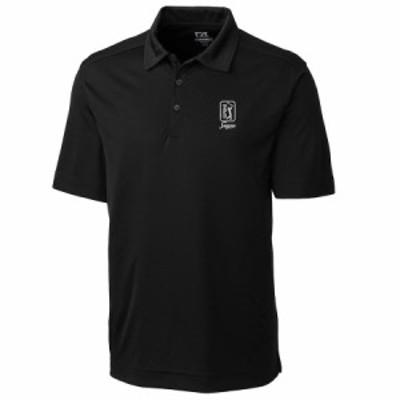 メンズ ポロシャツ TPC Sawgrass Cutter & Buck DryTec Northgate Polo - Black