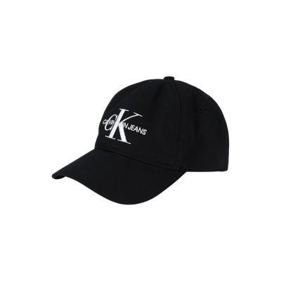 YOOX - CALVIN KLEIN JEANS 帽子 ブラック one size コットン 100% 帽子