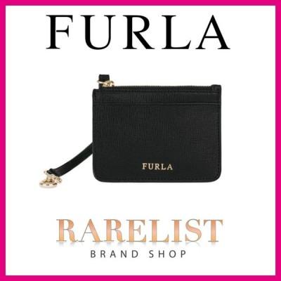 フルラ FURLA カードケース パスケース コインケース オニキス ブラック ゴールド レザー