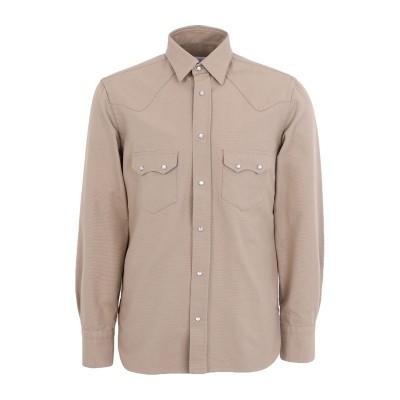 DOPPIAA シャツ カーキ 39 コットン 100% シャツ