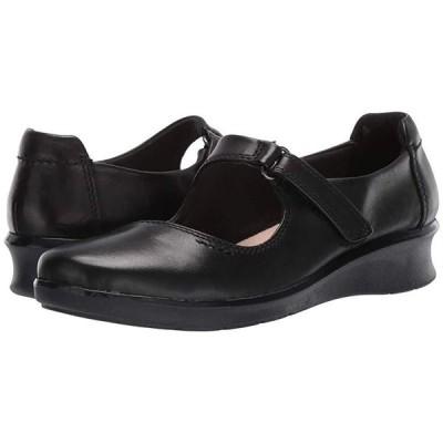 クラークス Hope Henley レディース フラットシューズ Black Leather