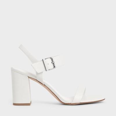 クラシック ブロックヒールサンダル / Classic Block Heel Sandals (White)