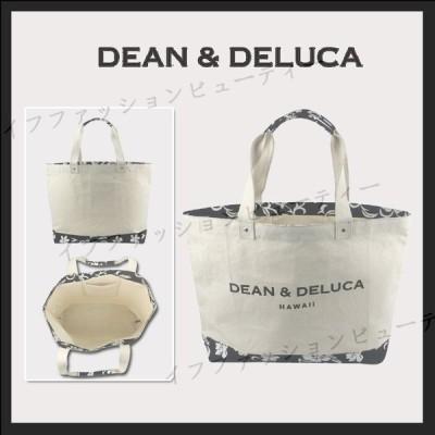DEAN&DELUCA ディーン&デルーカ キャンバス トートバッグ HAWAII限定 ハイビスカス柄 Natural Lサイズ ショルダーバッグ 送料無料