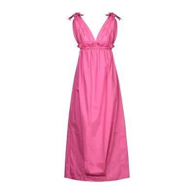 マニラ グレース MANILA GRACE ロングワンピース&ドレス フューシャ 42 コットン 85% / ナイロン 15% ロングワンピース&ド