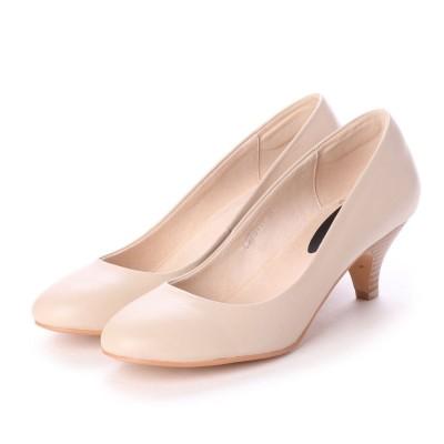 シューズラウンジ アウトレット shoes lounge OUTLET パンプス CAROL 73111BEIGE (ベージュ)