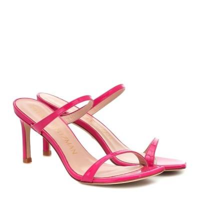 スチュアート ワイツマン Stuart Weitzman レディース サンダル・ミュール シューズ・靴 Aleena 75 leather sandals Peonia