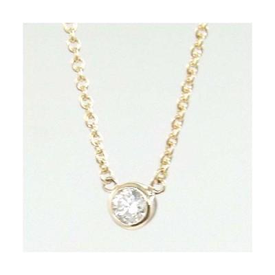ダイヤモンド ネックレス レディース プレゼント 0.25カラットSI2クラリティ Iカラー 18金ピンクゴールド(K18PG)   一粒 シンプルダイヤ