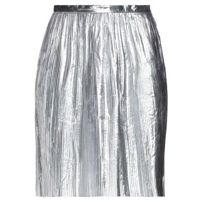 メゾン マルジェラ MAISON MARGIELA ミディスカート シルバー 42 ポリエステル 100% ミディスカート