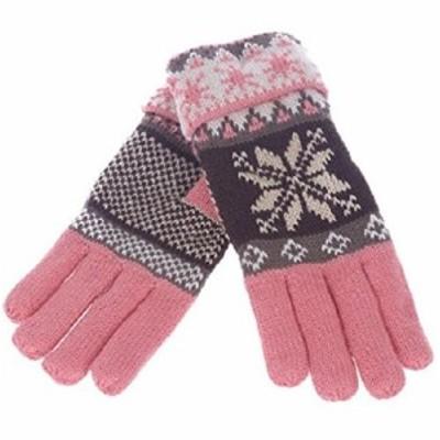 手袋 大きな雪の結晶 キュート (ピンク)