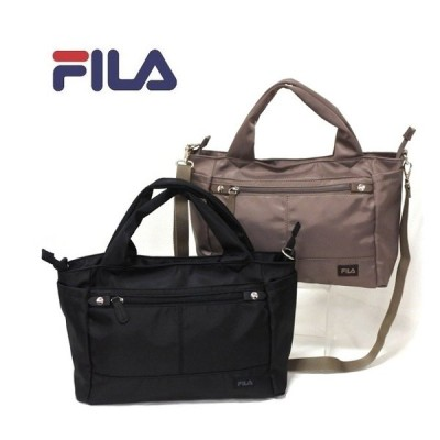 FILA[フィラ]  ハンドバッグ 2way  ツイル ナイロン  斜め掛け   ピムス  レディース 母の日 たくさん入る 多機能 軽い 7665