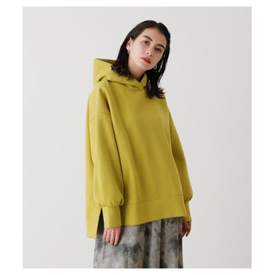 (AZUL by moussy/アズールバイマウジー)CARDBOARD MATERIAL HOODIE/レディース LIME