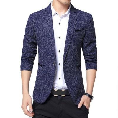 FOMANSH ジャケット メンズ ビジネス 1つボタン 西洋式 ブレザー スーツ生地 礼服