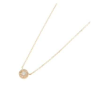 【ココシュニック/COCOSHNIK】 (K18)ダイヤモンドラウンド×メレダイヤ ネックレス