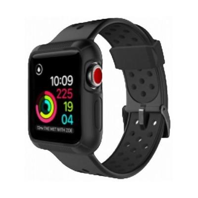 ROOX ルークス Apple Watch Series4&5 40mm用 インテグラル・スポーツ ブラック JGWSPSW5S-BK バンド ケース セット