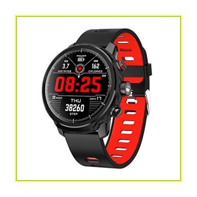 新品   Smart Watch Activity Tracker Fitness Watch for Men Women Waterproof Heart Rate Monitor Watches Sleep Monitoring (Red)   並行輸