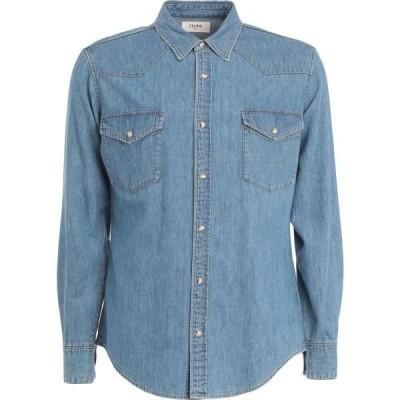 セリーヌ CELINE メンズ シャツ デニム トップス Denim Shirt Blue