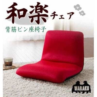座椅子 ザイス 布張り スマートシンプル リクライニング 和楽 フロアチェア Sタイプ A455 送料無料