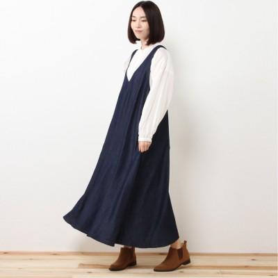 マキシ丈ジャンパースカート