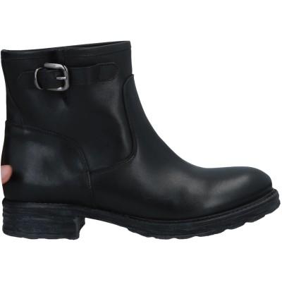 ZOE ショートブーツ ブラック 36 牛革(カーフ) ショートブーツ