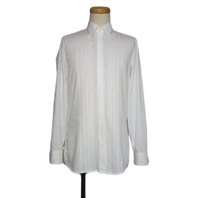wittekind exclusiv 白色 フライフロント シャツ ホワイト メンズS位 ヨーロッパ フォーマル 古着