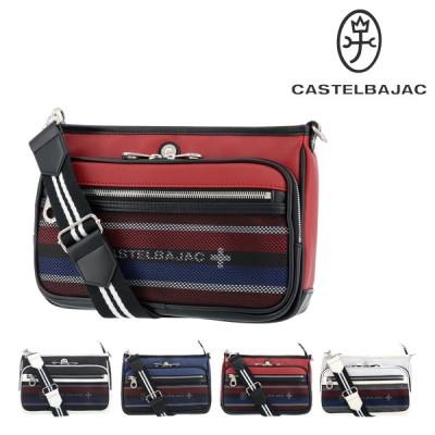カステルバジャック ショルダーバッグ サコッシュ 大きめ メンズ ネット 038101 CASTELBAJAC