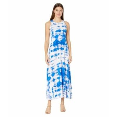 カルバンクライン レディース ワンピース トップス Tie-Dye Maxi Dress Klein Blue Mult