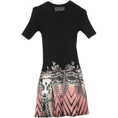 PHILIPP PLEIN ミニワンピース&ドレス ブラック S コットン 100% / シルク / ポリウレタン ミニワンピース&ドレス