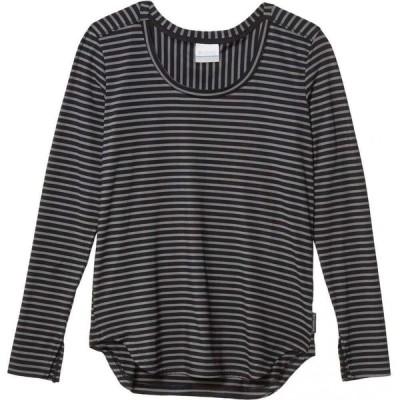コロンビア Columbia レディース 長袖Tシャツ トップス Firwood Camp Long Sleeve Tee Black Medium Stripe