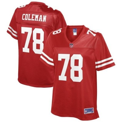 エヌエフエル プロ ライン レディース Tシャツ トップス Shon Coleman San Francisco 49ers NFL Pro Line Women's Team Player Jersey