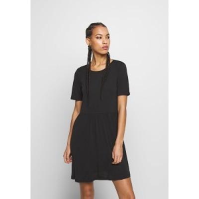 ピーシーズ レディース ワンピース トップス PCKAMALA DRESS NOOS - Jersey dress - black black
