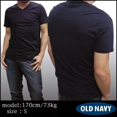 【セール】 OLD NAVY オールドネイビー メンズ 無地 Vネック Tシャツ ブラック GAP 半袖 シャツ ストリート アメカジ ファッション インポート アメリカン