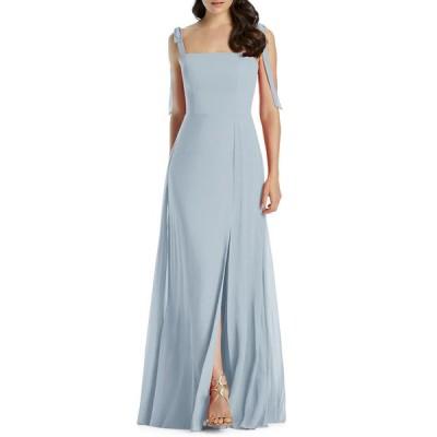 ドレッシーコレクション レディース ワンピース トップス Square-Neck Tie-Strap A-Line Chiffon Dress