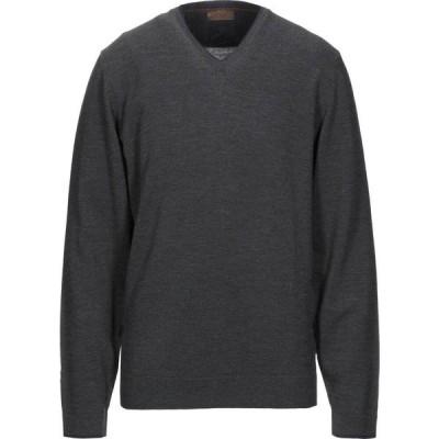アルファス テューディオ ALPHA STUDIO メンズ ニット・セーター トップス sweater Steel grey
