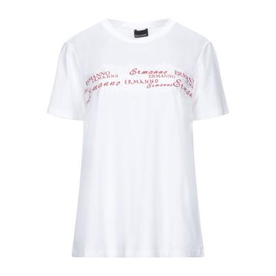 ERMANNO DI ERMANNO SCERVINO T シャツ ホワイト 46 コットン 93% / ポリウレタン 7% / ナイロン T シャツ